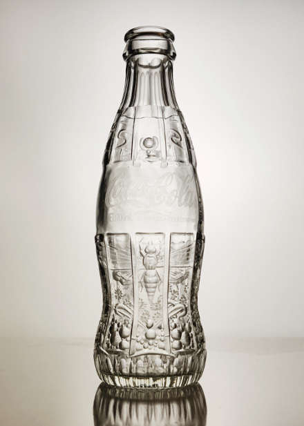 Moth - engraved CocaCola bottle